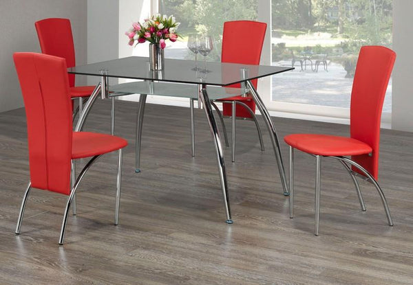 Low Prices And High Quality On Simple Glass Top Table Set With