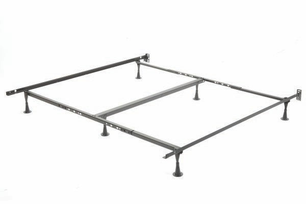 Queen/King (Adjustable) Metal Bed Frame with Headboard Attachment Brackets