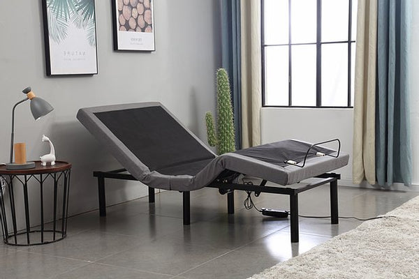 Queen Grey Electric Adjustable Bed