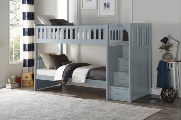 Twin/Twin Staircase Bunkbed with Bedroom Furniture Options