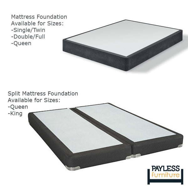 Mattress Foundation (Box spring) with Legs Option