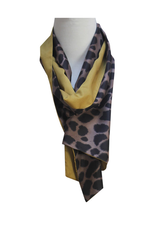 Animal Print Scarf | Silk & Cotton