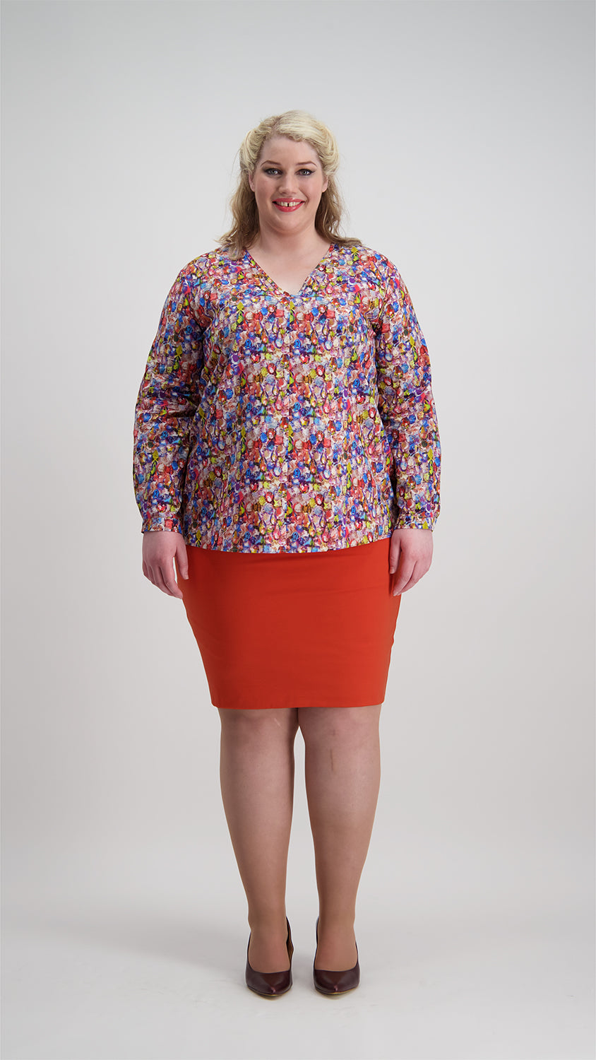 Pencil Skirt | Orange