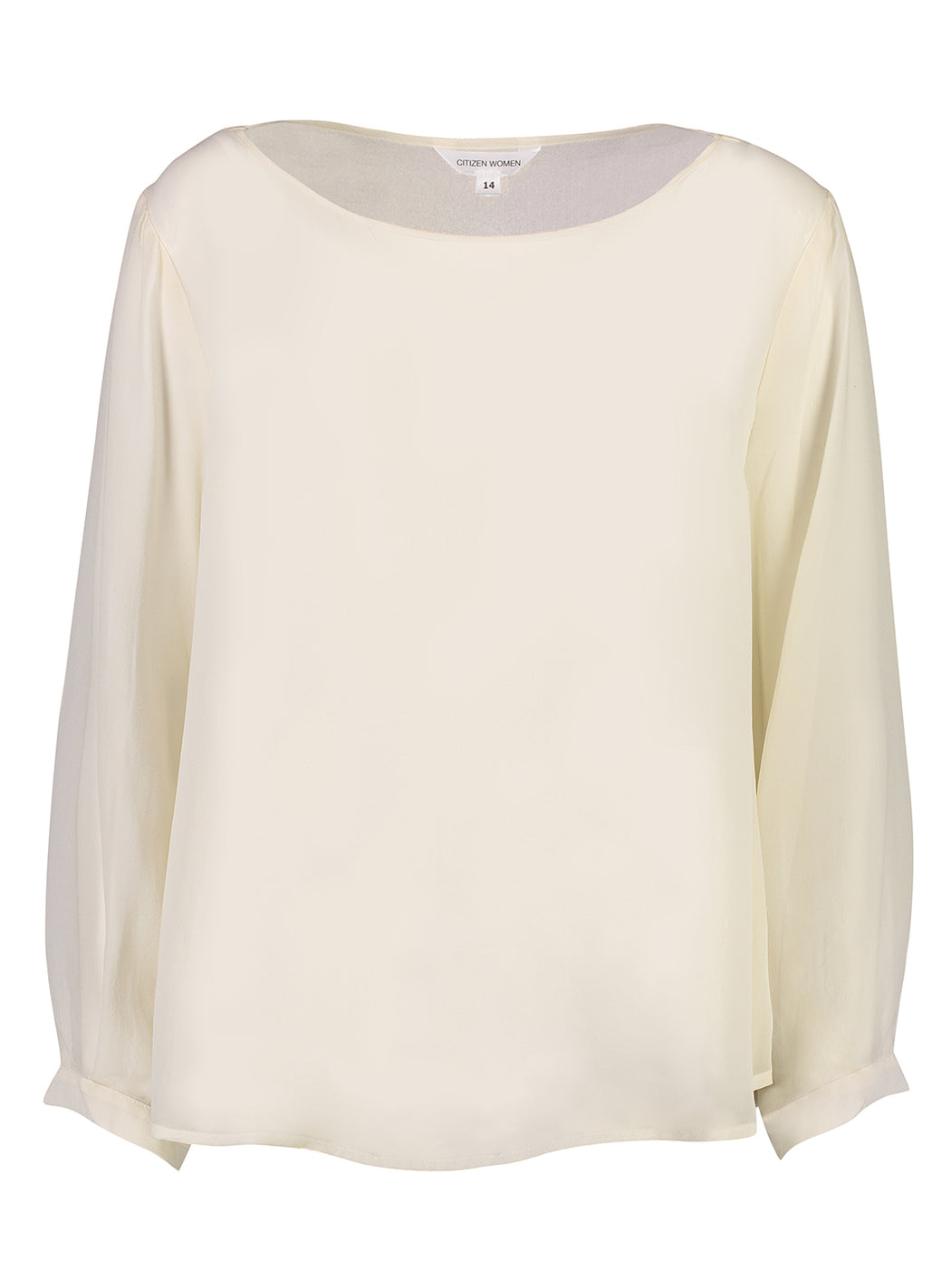 Charter | Boat Neck Top | Ivory | Silk