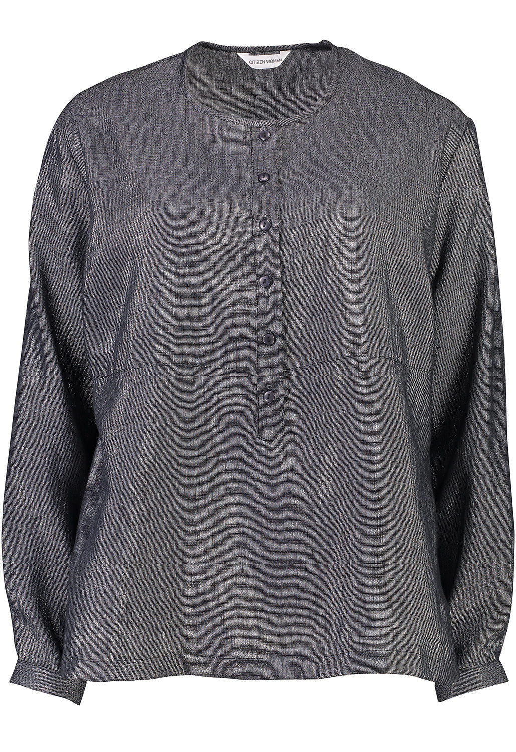 Capital Placket Shirt | Metal | Linen
