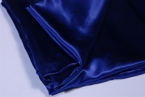 Table cloth- 90x90 blue satin