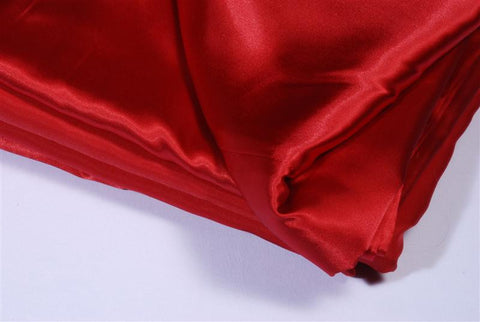 Tablecloth- 90x90 red satin