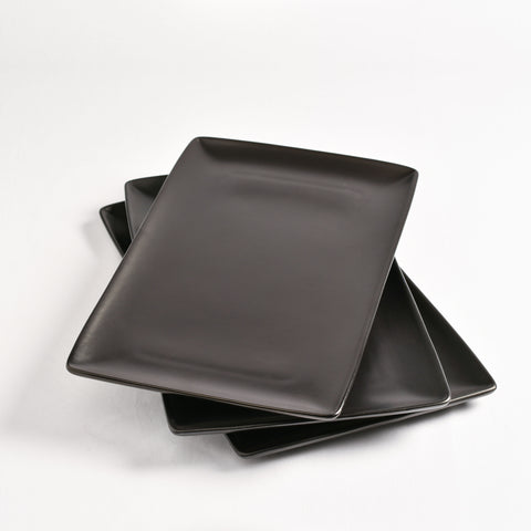 Platter- Black Rectangle.