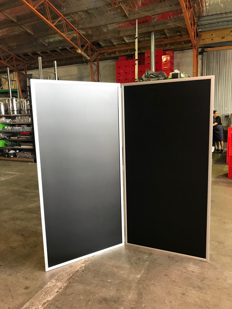 Solid Black Screen- 2 panel