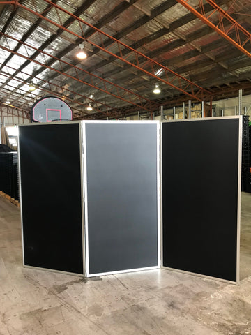 Solid Black Screen- 3 panel