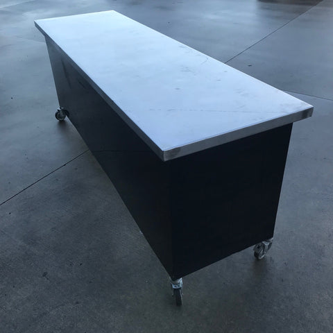 Table- Stainless Preperation/ Bar with wheels