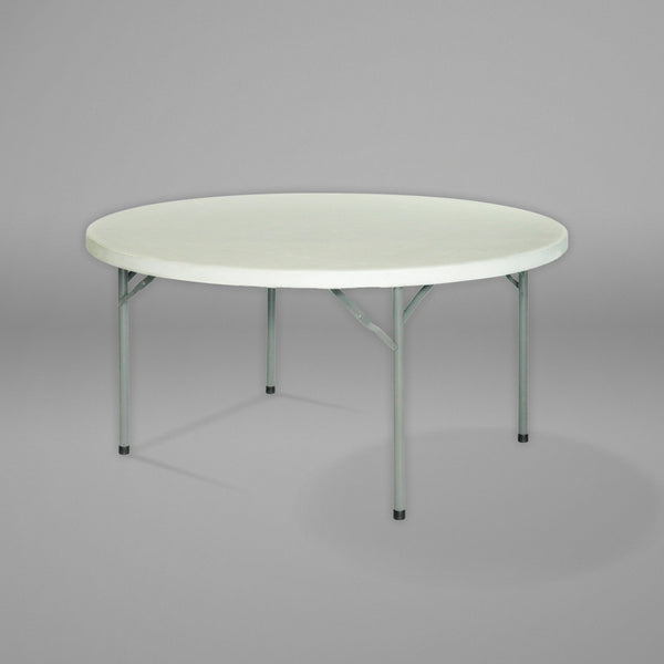 1.8m diameter Round Table with folding legs