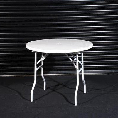 0.9m diameter Round Table with folding legs