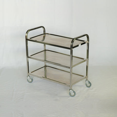 Click for Hire Stainless Steel Serving Trolley