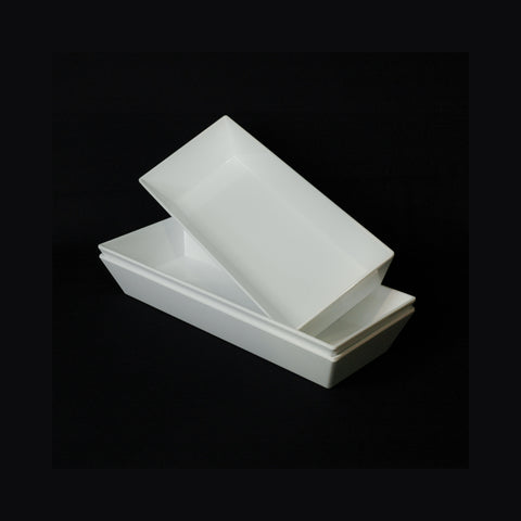 Rectangular melamine trough style platter