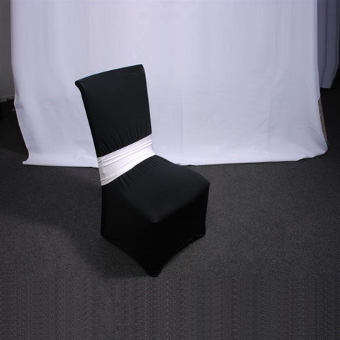 Lycra Chair Band - White