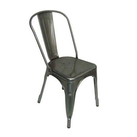 Chair- Tolix Metal Silver