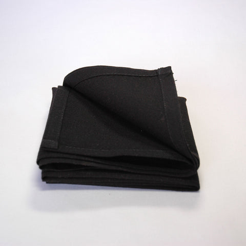 Plain Linen Napkin - Black