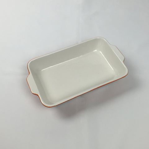 Serving Dish- Enamel Cast Iron Orange