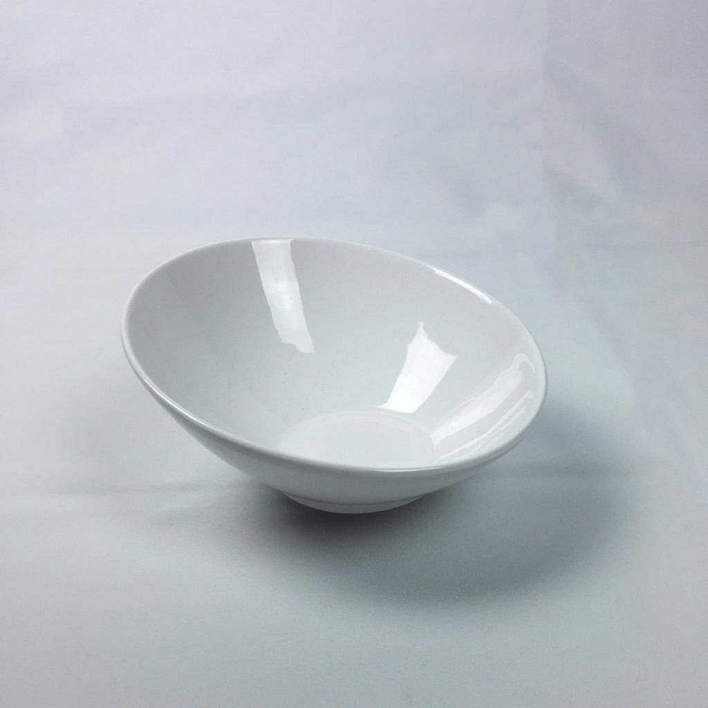 Slanted China Salad Bowl