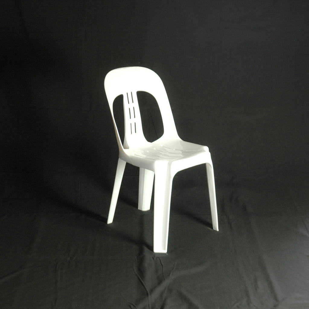 Chair- White Resin Barrel