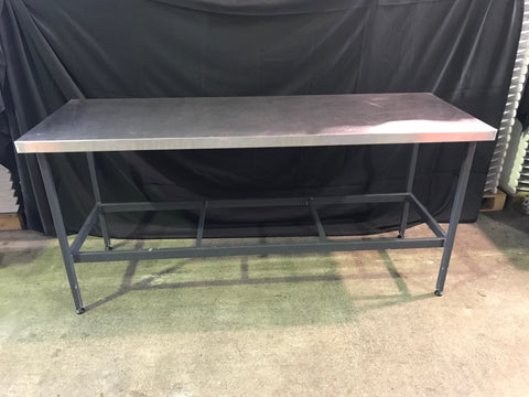 Table- Stainless Preparation/ Bar with Feet