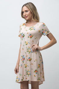 Short Sleeve A-Line Dress - ATC Clothing