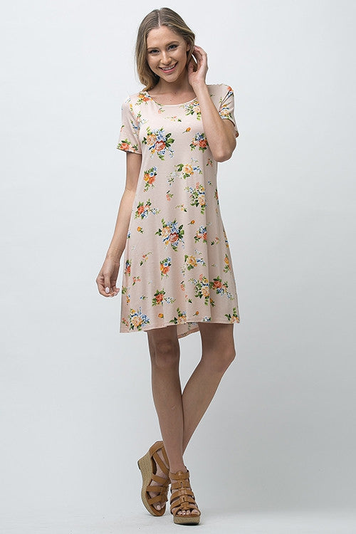 Short Sleeve A-Line Dress