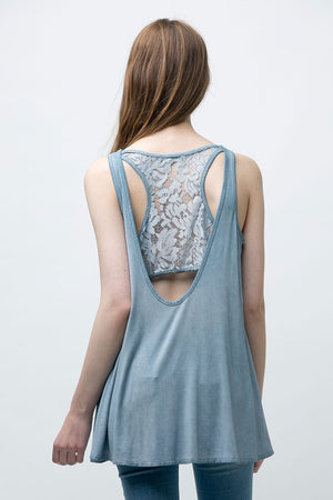 Sleeveless Tunic Top with Lace detail - ATC Clothing