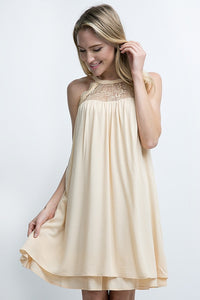 Babydoll Dress with Lace Detailing - ATC Clothing