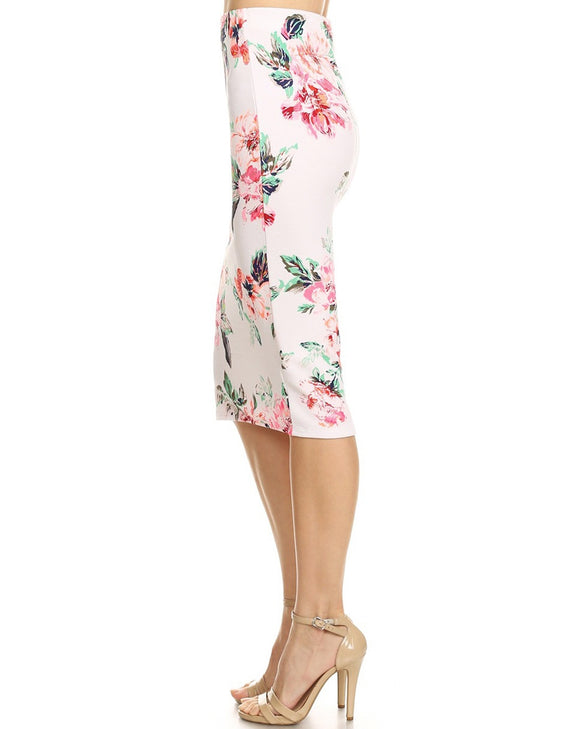 Floral print pencil skirt - ATC Clothing