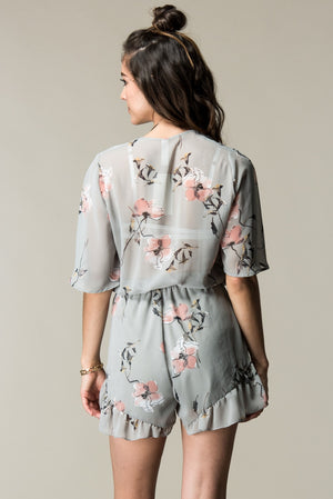 Floral Printed Romper - ATC Clothing