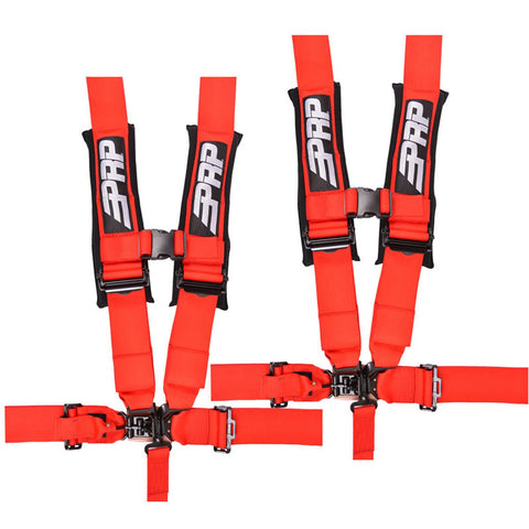 "PRP 5.3 Safety Harness Kit, 5 Point 3"" (Pair) - Red"