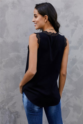 Jocelyn Lace Trimmed Tank