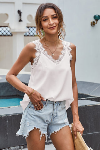 Emory Lace Trimmed Tank
