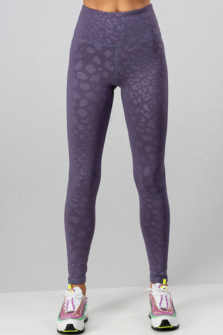 Taylor Leopard Leggings in Purple