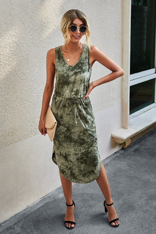 Adeline Midi Dress in Green