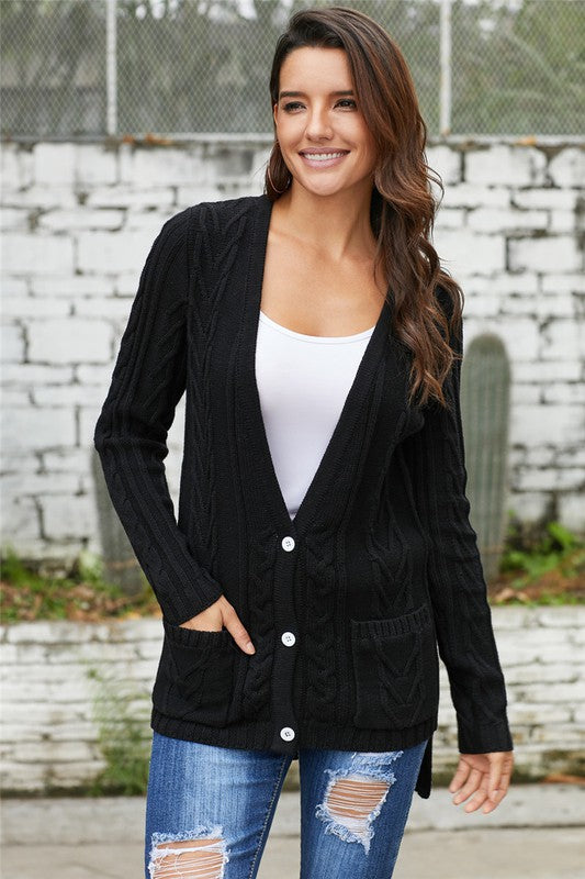 Zoey Knit Cardigan (Black or Grey)
