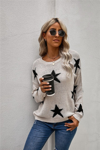 Star Knit Sweater