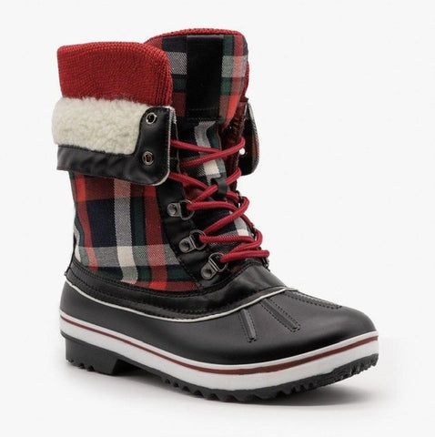 Nora Plaid Duck Boot
