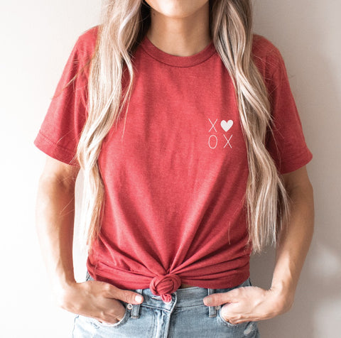 X❤️ XO Tee in Red