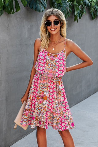 Court Spaghetti Strap Dress