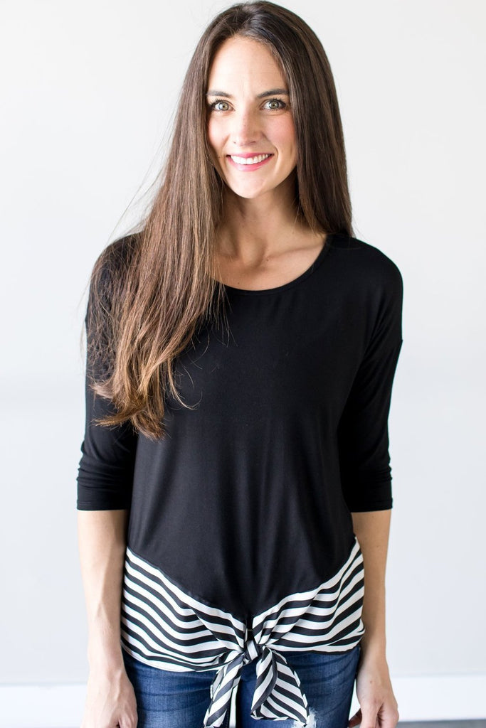 Everett Contrast Top
