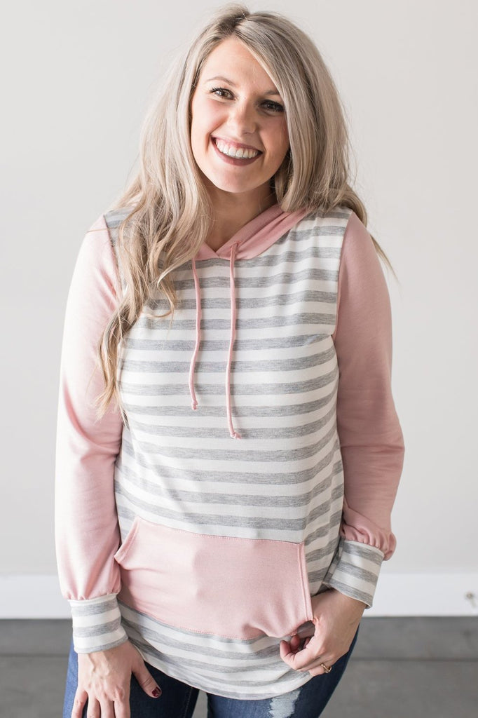 Gretchen Long Sleeve Striped Hoodie