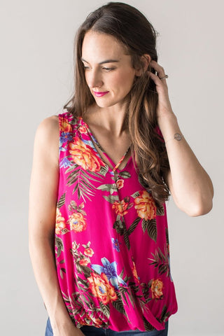 Shelby Sleeveless Floral Tank