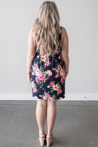 Brielle Sleeveless Floral V-Neck Dress