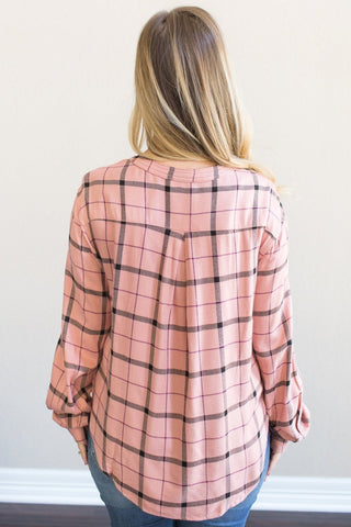 Landyn Plaid Top