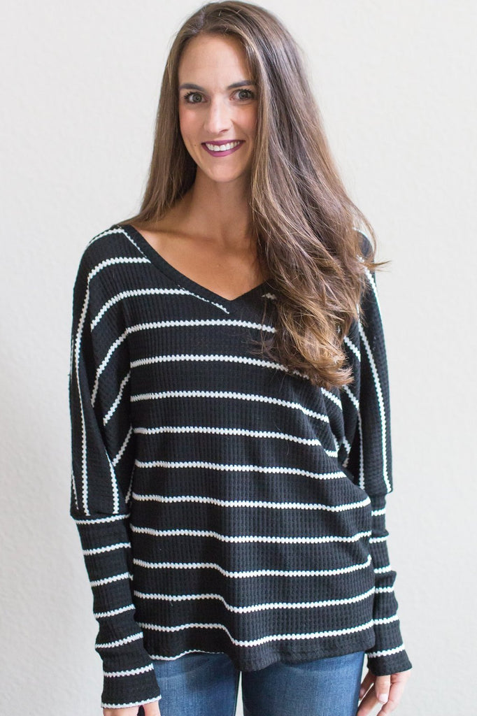 Kate Thermal Striped Top