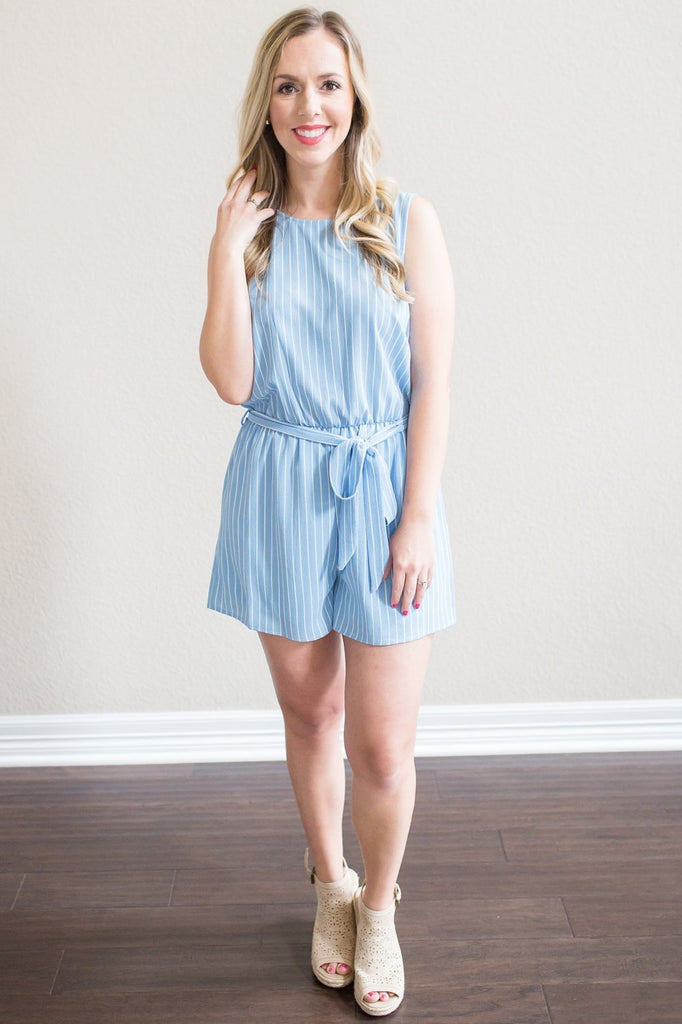 Z-Lynette Striped Romper