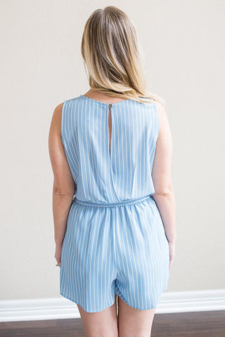 Lynette Striped Romper